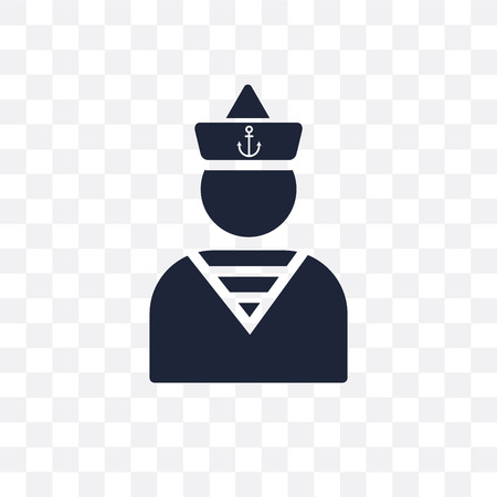 Sailor transparent icon. Sailor symbol design from Nautical collection. Simple element vector illustration on transparent background.