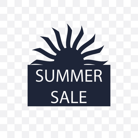 Summer sale transparent icon. Summer sale symbol design from Summer collection. Simple element vector illustration on transparent background.