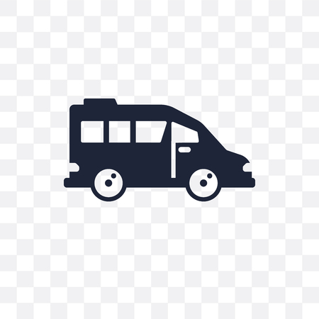 airport shuttle transparent icon. airport shuttle symbol design from Transportation collection. Standard-Bild - 115113526