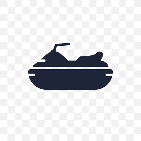 Jet ski transparent icon. Jet ski symbol design from Transportation collection. Illusztráció