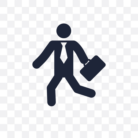 Going to work transparent icon and symbol design from People collection. Simple element vector illustration on transparent background.  イラスト・ベクター素材
