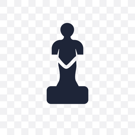 Statue transparent icon. Statue symbol design from arts collection. Simple element vector illustration on transparent background.