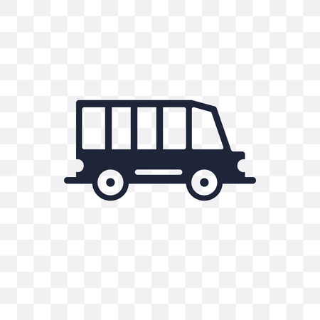 van transparent icon and symbol design from Transportation collection. Stock Vector - 111458316