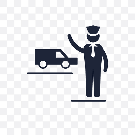 Taxi driver transparent icon. Taxi driver symbol design from Professions collection. Simple element vector illustration on transparent background. Illustration