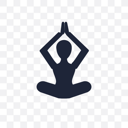 Spiritual and yoga transparent icon. symbol design from Religion collection. Simple element vector illustration on transparent background. Illusztráció
