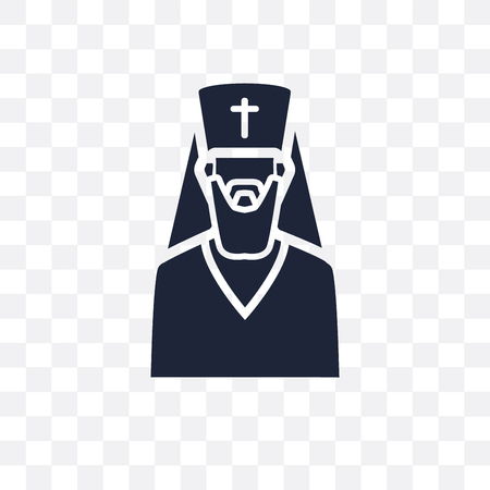 orthodox transparent icon. orthodox symbol design from Religion collection. Simple element vector illustration on transparent background. Illusztráció