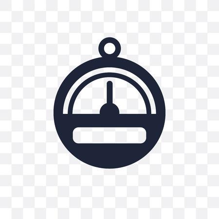 Barometer transparent icon. Barometer symbol design from Nautical collection. Simple element vector illustration on transparent background.
