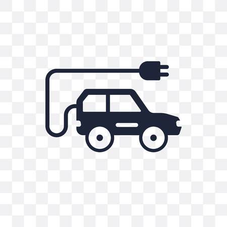 Electric car transparent icon. Electric car symbol design from Transportation collection. Illustration
