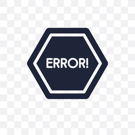 Error transparent icon. Error symbol design from SEO collection. Simple element vector illustration on transparent background. Illustration
