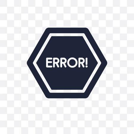 Error transparent icon. Error symbol design from SEO collection. Simple element vector illustration on transparent background.  イラスト・ベクター素材