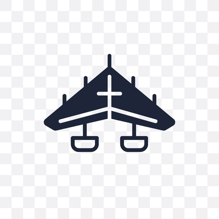 hang glider transparent icon. hang glider symbol design from Transportation collection. Banque d'images - 111340255
