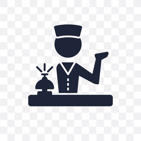 Concierge transparent icon. Concierge symbol design from Professions collection. Simple element vector illustration on transparent background. 向量圖像