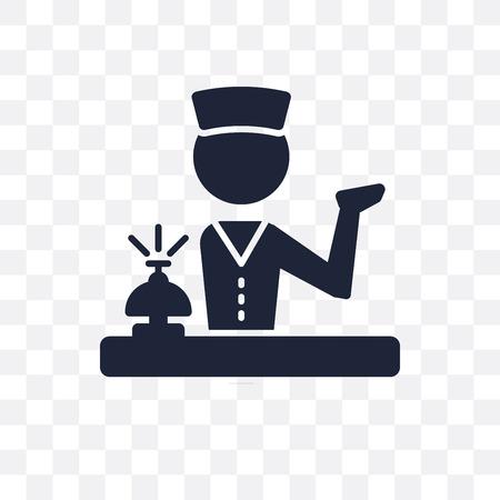 Icône transparente de conciergerie. Conception de symbole de conciergerie de la collection Professions. Illustration vectorielle élément simple sur fond transparent.