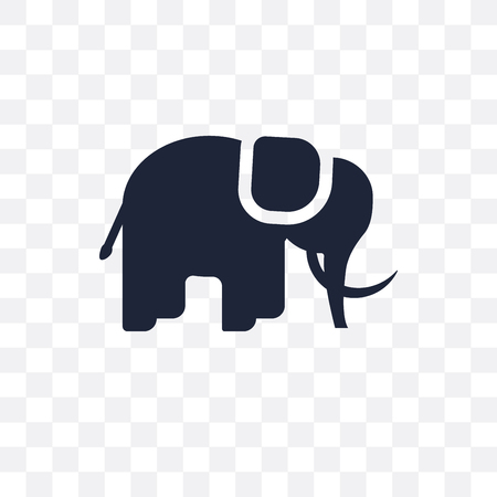 Mammoth transparent icon. Simple element vector illustration on transparent background.