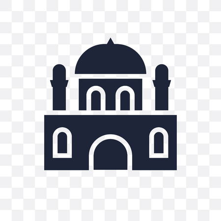 Monastery transparent icon. Monastery symbol design from Religion collection. Simple element vector illustration on transparent background.