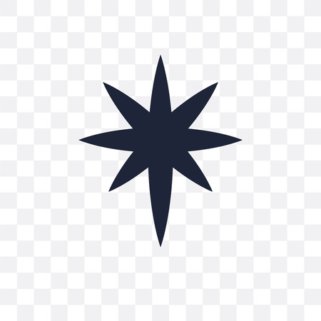 Holy star transparent icon. Holy star symbol design from Religion collection. Simple element vector illustration on transparent background. Illustration