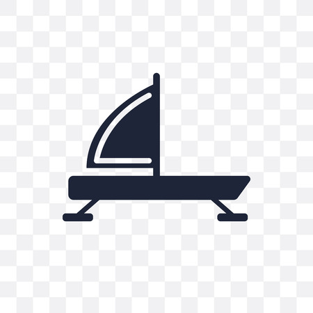 iceboat transparent icon. iceboat symbol design from Nautical collection. Simple element vector illustration on transparent background. Illustration