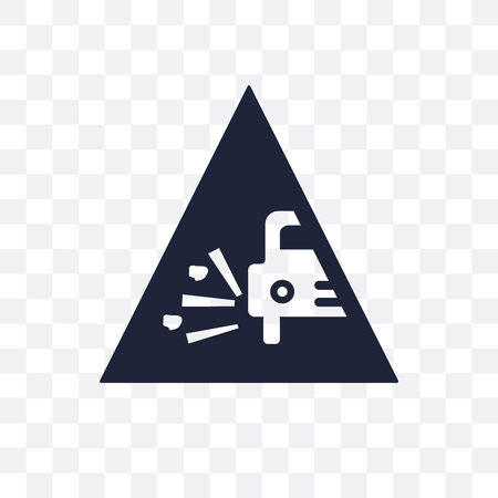 Pothole sign transparent icon. Pothole sign symbol design from Traffic signs collection. Simple element vector illustration on transparent background.