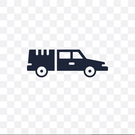 hearse transparent icon. hearse symbol design from Transportation collection.