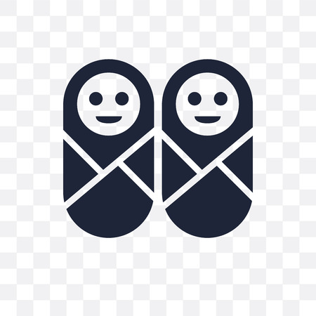 Twins transparent icon. Twins symbol design from People collection. Simple element vector illustration on transparent background.