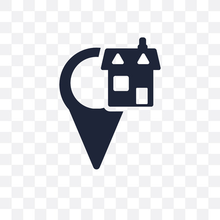 Home Location transparent icon. Home Location symbol design from Maps and locations collection. Simple element vector illustration on transparent background.