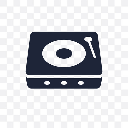 Turntable transparent icon. Turntable symbol design from Music collection. Simple element vector illustration on transparent background.