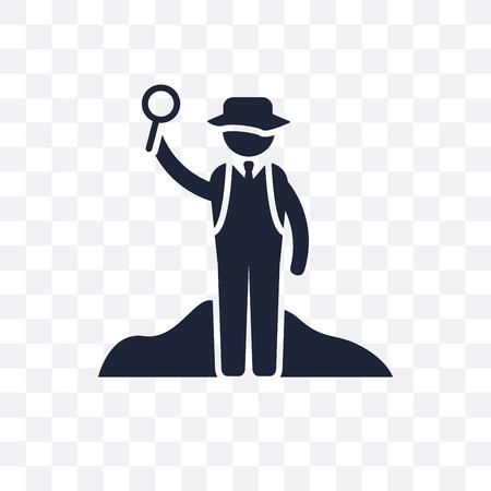 Archeologist transparent icon. Archeologist symbol design from Professions collection. Simple element vector illustration on transparent background. Foto de archivo - 111533278