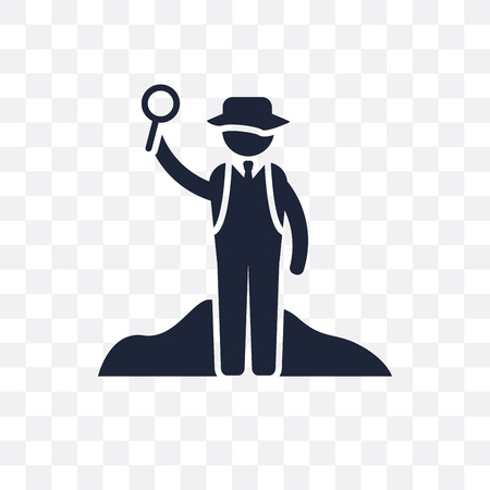 Archeologist transparent icon. Archeologist symbol design from Professions collection. Simple element vector illustration on transparent background.