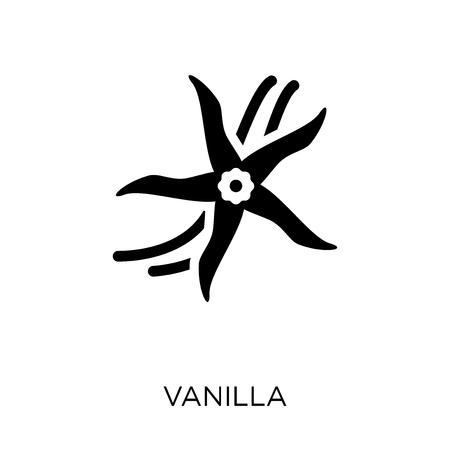 Vanilla icon. Vanilla symbol design from Nature collection. Simple element vector illustration on white background.