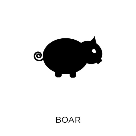 Boar icon. Boar symbol design from Animals collection. Simple element vector illustration on white background.