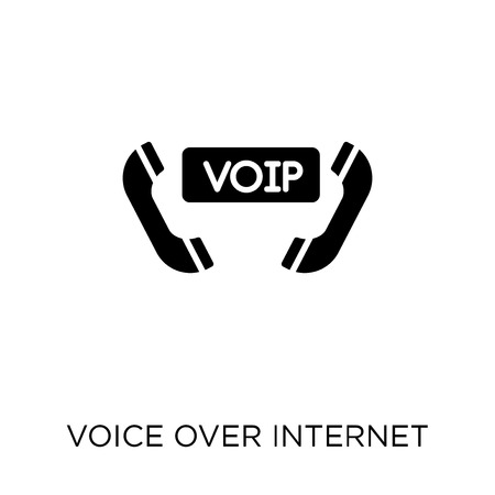 voice over internet protocol icon. voice over internet protocol symbol design from Networking collection. Simple element vector illustration on white background. Illustration