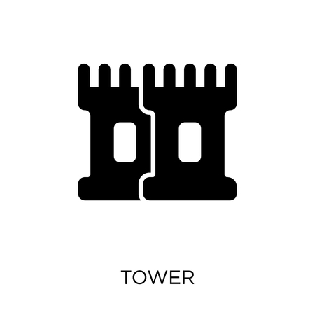 Tower icon. Tower symbol design from Architecture collection. Simple element vector illustration on white background. 矢量图像