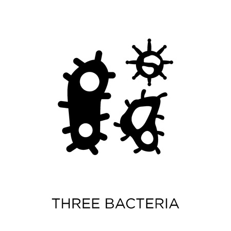 Three Bacteria icon. Three Bacteria symbol design from Human Body Parts collection.