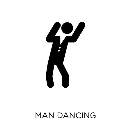 Man Dancing icon. Man Dancing symbol design from People collection. Simple element vector illustration on white background. Stock Illustratie