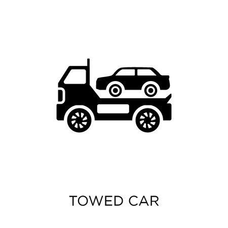 Towed car icon. Towed car symbol design from coverage collection. Illustration