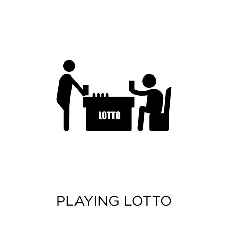 Playing Lotto icon. Playing Lotto symbol design from Activity and Hobbies collection. Simple element vector illustration on white background. 일러스트