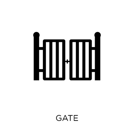 Gate icon. Gate symbol design from Architecture collection. Simple element vector illustration on white background. 向量圖像