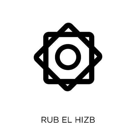 Rub el Hizb icon. Rub el Hizb symbol design from Religion collection. Simple element vector illustration on white background.