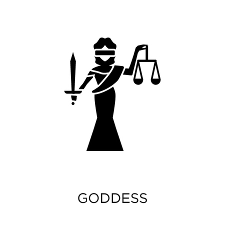 Goddess icon. Goddess symbol design from Religion collection. Simple element vector illustration on white background. Foto de archivo - 111535996