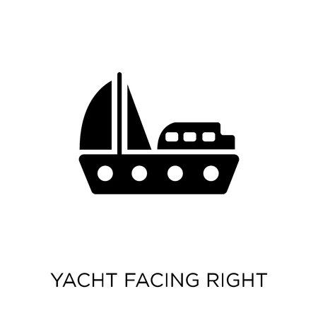 Yacht Facing Right icon. Yacht Facing Right symbol design from Nautical collection. Simple element vector illustration on white background.
