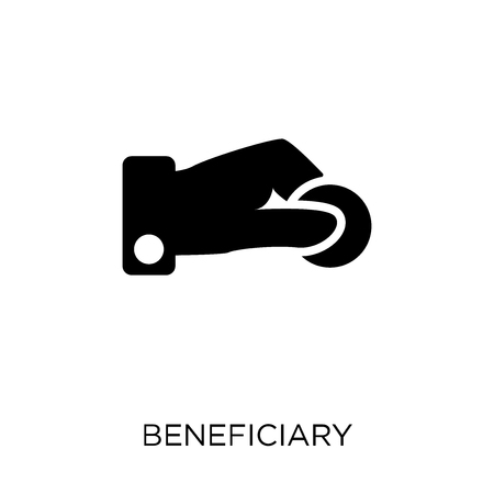 Beneficiary icon. Beneficiary symbol design from coverage collection. Illustration