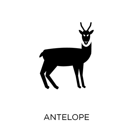 Antelope icon. Antelope symbol design from Animals collection. Simple element vector illustration on white background.