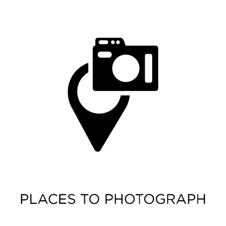 Places to photograph icon. Places to photograph symbol design from Maps and locations collection. Simple element vector illustration on white background.