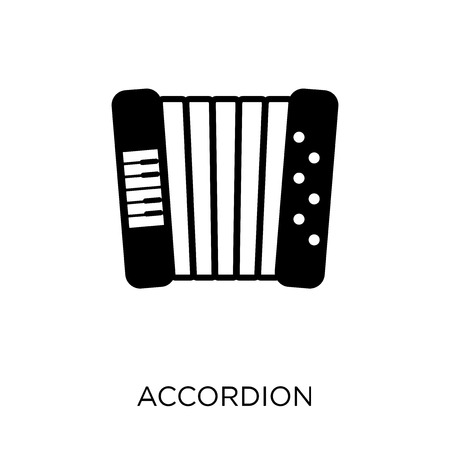 Accordion icon. Accordion symbol design from Music collection. Simple element vector illustration on white background.