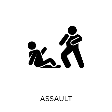 Assault icon. Assault symbol design from Army collection.  イラスト・ベクター素材