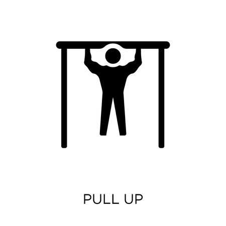 Pull up icon. Pull up symbol design from Army collection.  イラスト・ベクター素材