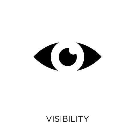 Visibility icon. Visibility symbol design from SEO collection. Simple element vector illustration on white background.