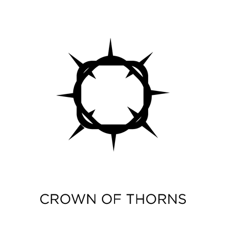 Crown of thorns icon. Crown of thorns symbol design from Religion collection. Simple element vector illustration on white background.