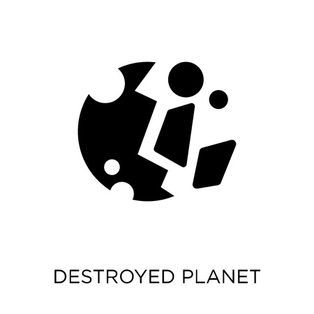 Destroyed planet icon. Destroyed planet symbol design from Astronomy collection.