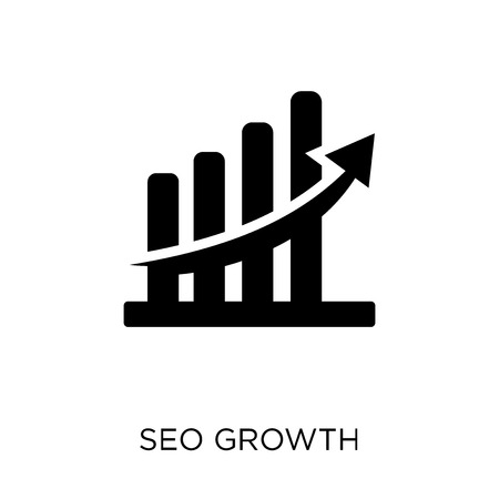 seo growth icon. seo growth symbol design from SEO collection. Simple element vector illustration on white background.